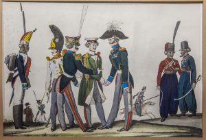 «Встреча союзных войск». XIХ век. Факсимильная фотокопия с гравюры Киля