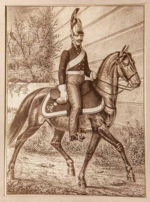 Офицер Владимирского драгунского полка. Неизвестный художник. XIX век