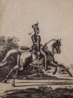 Артиллерист на коне. Фотокопия