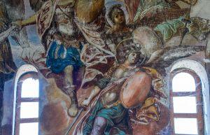 Верхний пояс росписи. Барабан и купол. Георгиевский собор. Юрьев-Польский музей