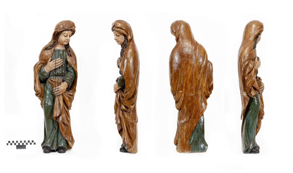 Скульптура - фигура женщины. XIX в. Дерево, масло, резьба