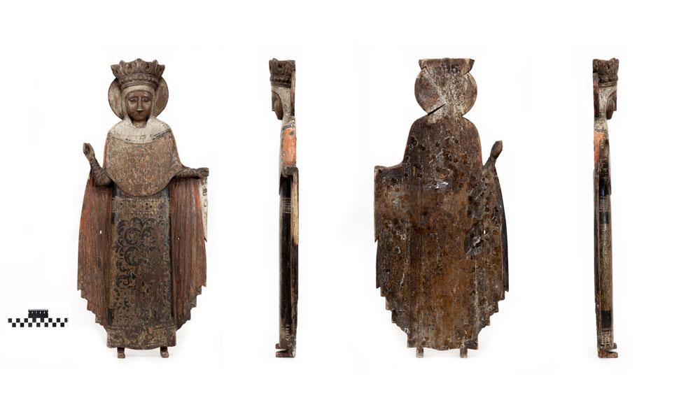 Скульптура. Параскева Пятница. XVII в. Дерево, масло, резьба
