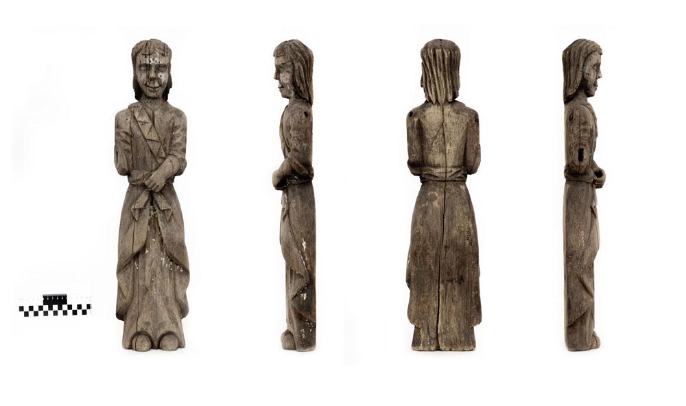 Скульптура. Мужская фигура. XVIII в. Дерево, масло, резьба
