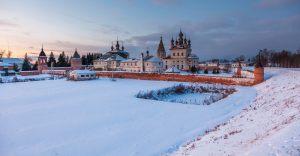 Вид с земляного вала. Юрьев-Польский музей. Зимнее фото
