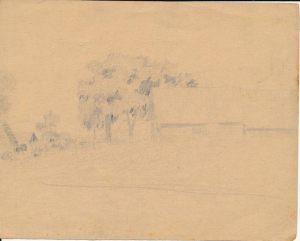 Новосельский В Н  Улица Набросок карандашом 1944 г