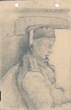 Новосельский В Н Капитан артиллерии Набросок карандашом 1944 г