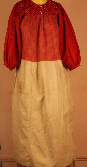 Рубашка женская комбинированная