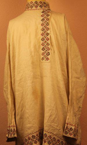 Рубашка мужская косоворотка с манжетами