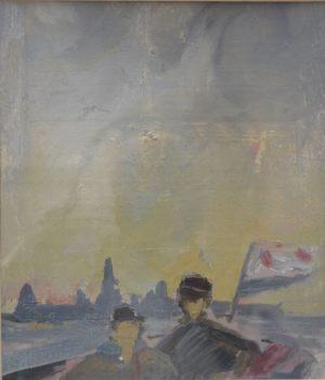 Юнги (эскиз). Картон, масло. 1981 г.