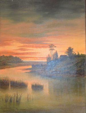 Река при заре