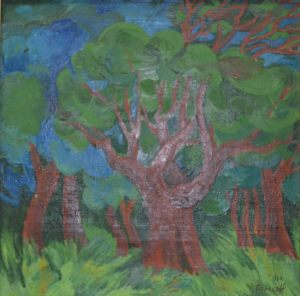 Бароха И.Н. Красное дерево (передана нашему музею Московской галереей «Союз Творчество»)