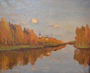 Смирнов А.М. Тишина (передана нашему музею Московской галереей «Союз Творчество» )